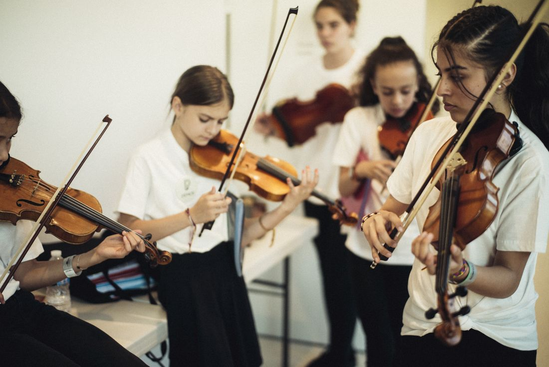 Tutti de l'orchestre Démos Philharmonie de Paris